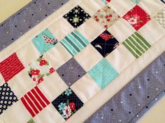 Nautical Quilted Table Runner Quilted Table by ForgetMeNotQuilteds