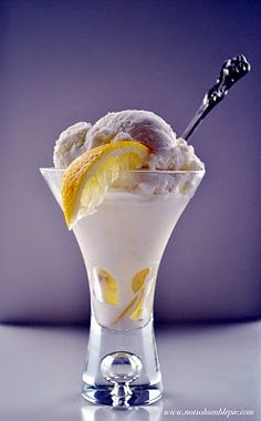 There was a parlor that made homemade lemon sherbet in Michigan, I wonder if this will make up for it and how I miss it.