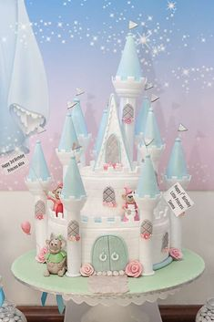 Cinderella's Castle Cake. This is an awesome use of Wilton's castle cake kit.