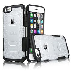 iPhone 6 Case, ULAK [Nutcandy Series] Case for iPhone 6 4.7 inch Shockproof Rugged Hybrid Pattern Case Bumper Rubber Hard Cover (Black) ULAK http://www.amazon.com/dp/B00YR1ZGJ8/ref=cm_sw_r_pi_dp_A--Dvb0G4QHQ6