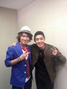 Kim Hyun Joong with Naoto Inti Raimi at U Express Live Today [02/03/13]