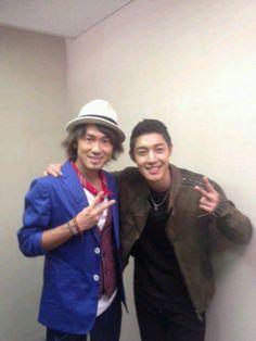 Kim Hyun Joong with Naoto Inti Raimi at U Express Live Today [02/03/13]