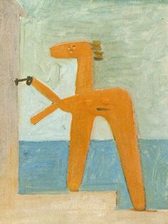 Pablo Picasso, Bather Opening a Beach Cabin [Baigneuse ouvrant une cabine], Dinard, 9 August 1928