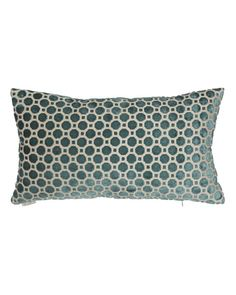 Avery Turquoise Geometric Pillow 24x14
