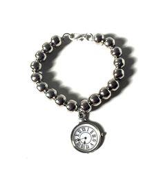 Bracciale con orologio e perline bracciale perle di AnotherLAgrein