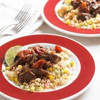 BBQ Beef Roast with Corn and Couscous