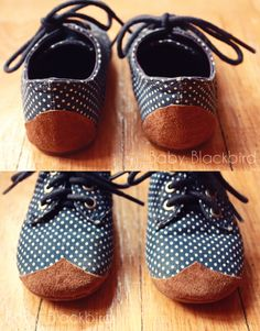 DIY patches for well loved shoes. Love this idea!!