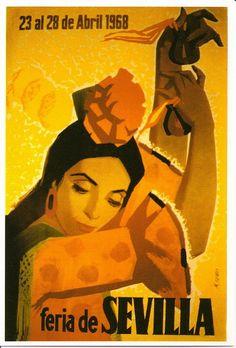 Cartel Feria de Primavera de Sevilla 1968