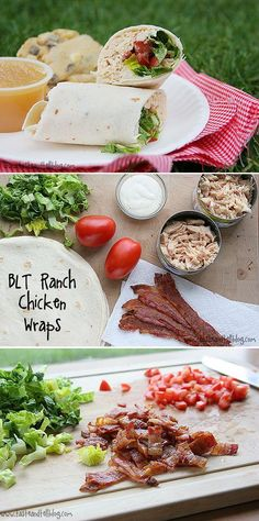BLT Ranch Chicken Wraps - Love with recipe
