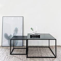 Domo Square sofabord M, svart i gruppen Møbler / Bord hos ROOM21.no (1023797)