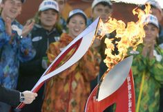 Winter Olympics 2014: Carrying the flame  Flame begins journey
