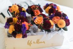 Brightly Colored Fall Bridesmaid Bouquets