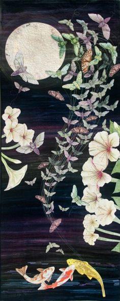 """Moon Drunk"" by Susan Fletcher King.  Featured at International Quilt Market/Festival 2012"