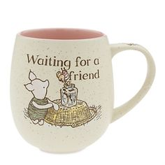 [Rise and shine]Ease into the morning hours with all the charm and whimsy of original Piglet illustrations in the style of E. H. Shepard. This tubby hot beverage mug features a flecked finish and glossy interior.