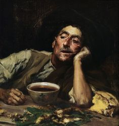 José MALHOA - Pensando no caso, 1904 (José Vital Branco Malhoa, Portugal, [Naturalism] Portugal, Gustav Klimt, People Art, Old Master, Paint Designs, Artist At Work, Traditional Art, Art Forms, Art Gallery
