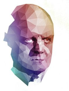 """""""Sunday evening experiment with grayscale source image"""" by Juhana Schulman Art And Illustration, Portrait Illustration, Graphic Design Illustration, Graphic Design Art, Logo Design, Geometric Face, Polygon Art, Graphic Patterns, Conceptual Art"""