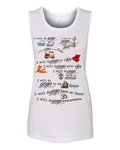 Yoga MOM  Dr SEUSS-esk  muscle tanktop by yogatops on Etsy