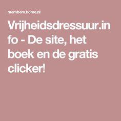 Vrijheidsdressuur.info - De site, het boek en de gratis clicker!