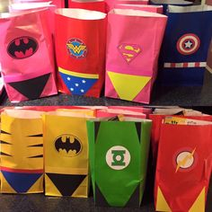 A personal favorite from my Etsy shop https://www.etsy.com/listing/261303706/superhero-favor-bags-superhero-goody