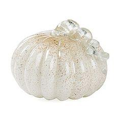 Glisten White Glass Pumpkin | Big Lots