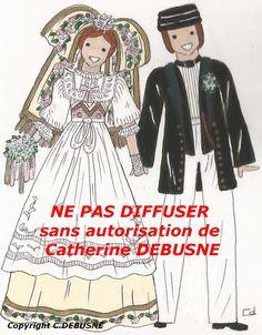 Mariés d'Alsace. En laissant la mention ROUGE, je vous autorise à faire connaître mes dessins
