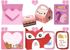 Valentine crafts printables kawaii