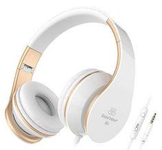 Auriculares blanco-oro http://www.milideaspararegalar.es/producto/auriculares-blanco-oro/