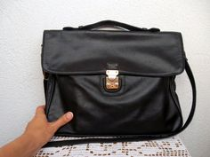Genuine Leather Large Satchel With by BlastFromThePastBags on Etsy