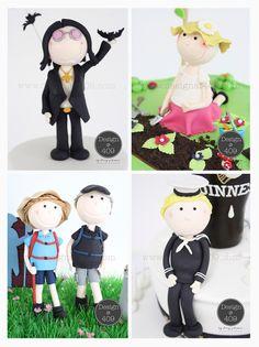 Gum Paste Figurines Cake Toppers : Design @ 409