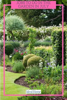 The garden in July is a fruitful place, here's how to make the most of summer flowers and get ahead for bountiful Autumn harvest It's high summer and nature is blooming in its full glory. It's a time to relax and enjoy the fruits of your labour from the previous year but there are a few garden jobs for July that need attending to... #July #garden #jobs