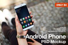Android Phone Xiaomi Mi5 PSD Mockup by JÉSHOOTS.com on @creativemarket