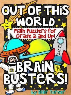 Kids LOVE puzzles - these space-themed math puzzles are engaging and great for developing strong number sense. $