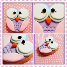 Baykuş kurabiye.. Owl cookie.. She bee pasta&kurabiye  She bee cake&cookie