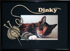 Personalized cat picture frame $60 on Etsy