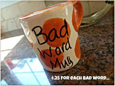 bad word mug