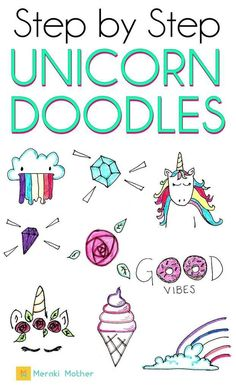 Drawing Doodles Ideas Step by step unicorn doodle tutorial for your bullet journal or planner Bullet Journal For Kids, Bullet Journal For Beginners, Bullet Journal Hacks, Bullet Journal How To Start A, Bullet Journal Themes, Bullet Journal Layout, Bullet Journal Inspiration, Bullet Journals, Doodle For Beginners