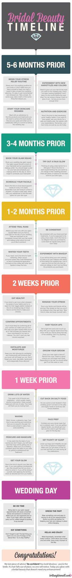 Beauty Prep Timeline for the Bride-to-be!