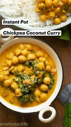 Healthy Indian Recipes, North Indian Recipes, Vegan Dinner Recipes, Ethnic Recipes, Chickpea Coconut Curry, Pressure Cooking, Food Videos, Easy Meals, Quick Easy Meals