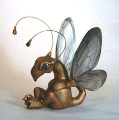 Copper Dragonfly Hatchling by Mythologicae on Etsy