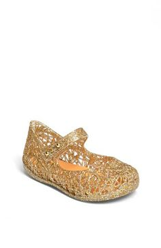 Mini Melissa 'Campana' Mary Jane in Gold, these are so great for Spring/Summer stop in to get yours today!