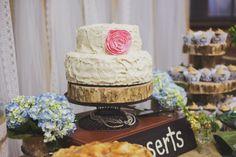 Vibe Vintage Rentals... Seattle   Rustic Wedding Cake