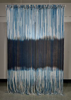 Rowland Ricketts  Mirrored  Indigo and black walnut dyed mop cotton, silk  120in x 80in