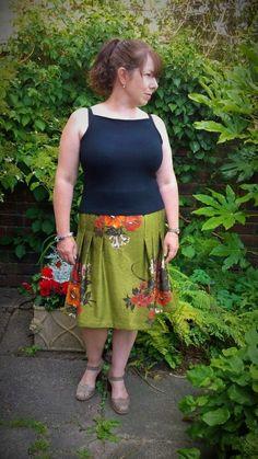 Vintage self drafted Maria Skirt Blogged here: https://justsewtherapeutic.wordpress.com/2014/07/18/vintage-maria-drape-skirt/  #memadeliving #summerstashbust2014