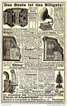 Original-Werbung/ Anzeige 1910 -  MUSIKINSTRUMENTE HERFELD & COMPAGNIE…