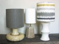 Table Lamp Stoneware Hex