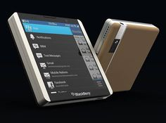 Square Smartphone Designs - The BlackBerry L Reimagines the Rotary Slider for a Retractable Keyboard (GALLERY)