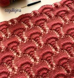 Free instructions Crochet Stitches Patterns, Crochet Motif, Crochet Shawl, Crochet Hooks, Free Crochet, Stitch Patterns, Crochet Lace Dress, Beautiful Crochet, Baby Knitting