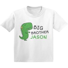 Dinosaur Big Brother Shirt Dinosaur Big Brother Shirt, Pregnancy Announcement Big Brother, Funny Toddler Shirts, Toddler Shirts for Boys, Toddler Shirts for Girls Crafts For Boys, Projects For Kids, Toddler Humor, Funny Toddler, Big Brother Announcement Shirt, Shirts For Girls, Bff, Pregnancy Announcements, Shirt Ideas