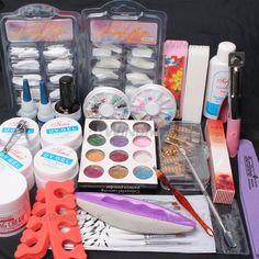 Ships From CA, USA, Nail Art UV Gel False Tips Top Coat Glue Decorations Full DIY Tools Set *** Check out this great product.
