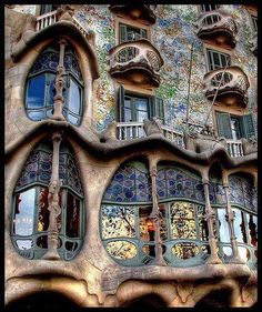 Casa Batlló is an amazing building restored by Antoni Gaudí - Barcelona, Spain